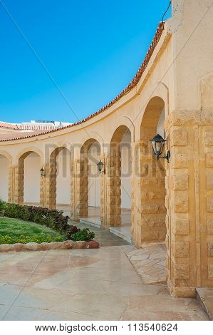 Beige Architectural Arches In Perspective