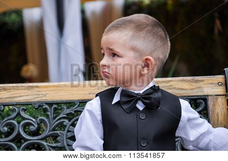 Baby Gentleman In A Suit With Butterfly