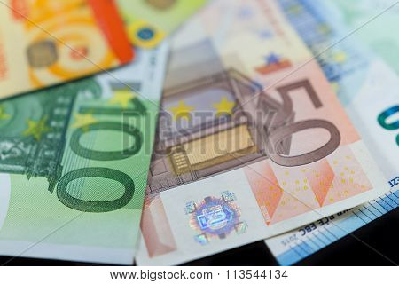 Euro Notes And Credit Bank Cards