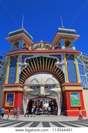 Luna park amusement park Melbourne Australia
