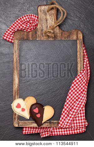 Cutting Board And Cookies.