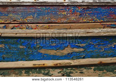 Old and washed out boat hull