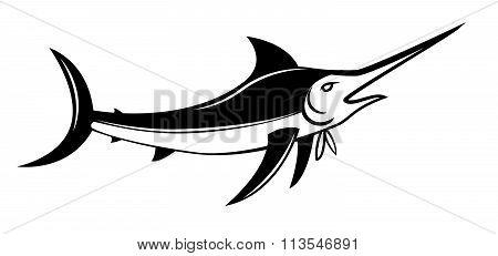 Marlin Fish Symbol vector design . .eps10 editable vector illustration design