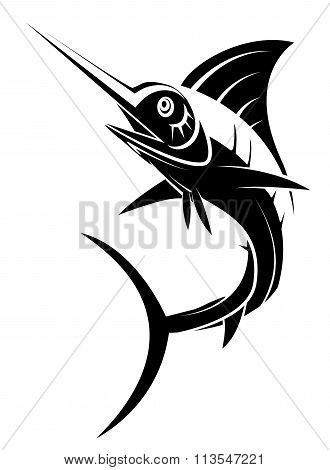 Marlin Fish Tattoo .eps10 editable vector illustration design
