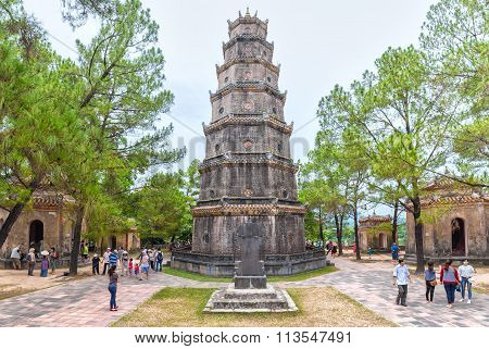 Thien Mu Pagoda, Hue on a summer day