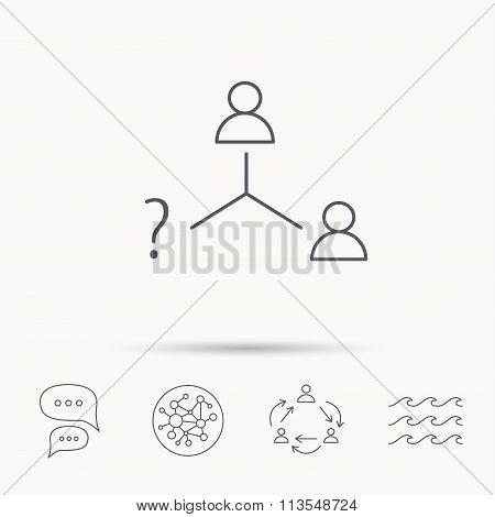 Vacancy or hire job icon. Teamwork sign.