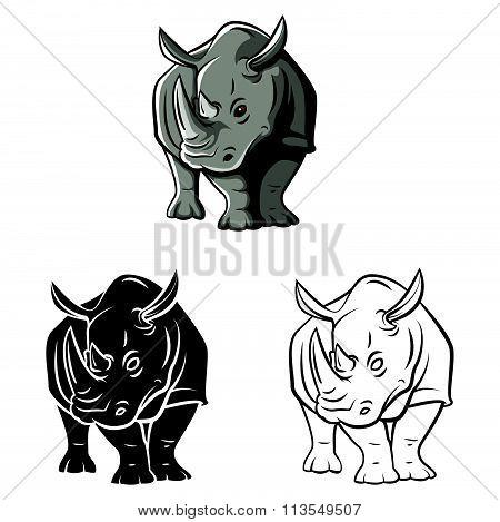 Coloring book Rhinoceros Tattoo cartoon character