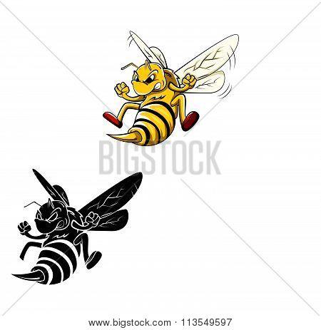 Coloring book Bee cartoon character