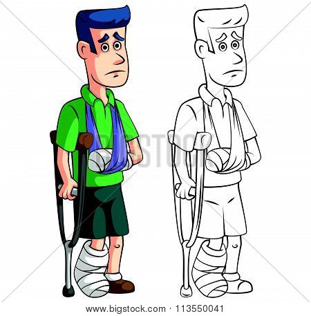 Coloring book accident insurance cartoon character
