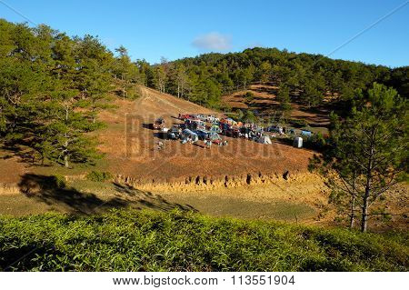 Family Vacation, Camp, Pine Forest, Dalat, Vietnam