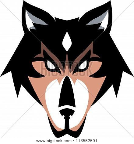 Howling wolf illustration design