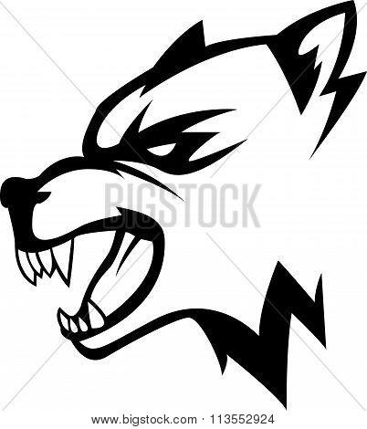 Wolf head illustration design