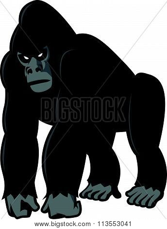 Gorilla illustration design