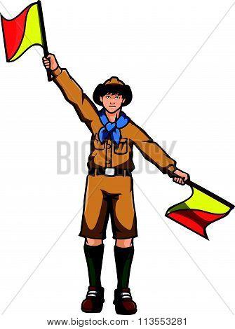 Boy scout vector Illustration design