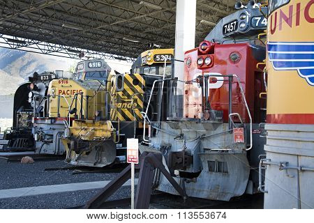 Union Station trains on display