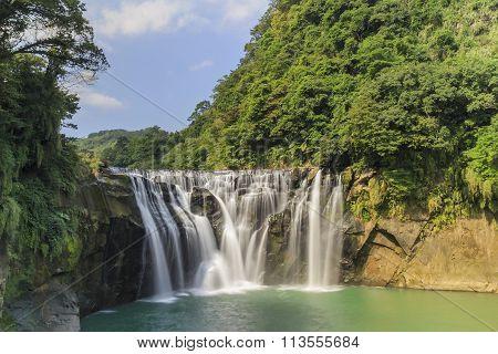 The Famous Shifen Waterfall