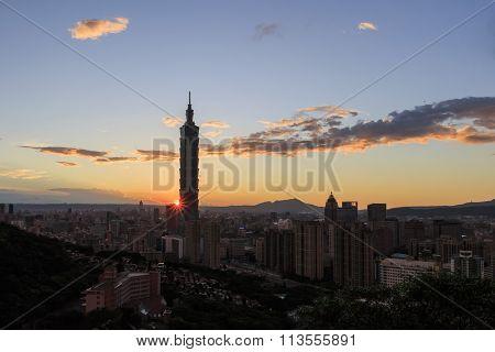 Famous Cityscape Of Hsinyi District
