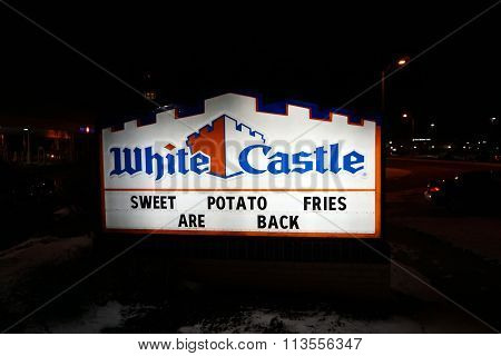 White Castle Sign at Night