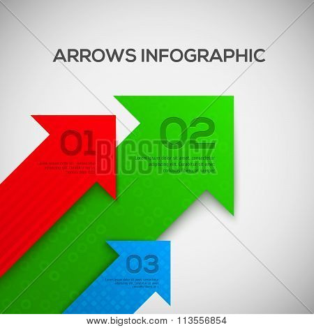Infographic with 3D arrows. Vector.