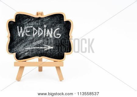 Wooden Easel Mini Blackboard With Text Wedding