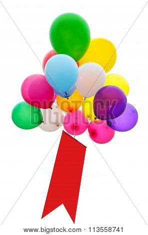 Ballons isolated on white background