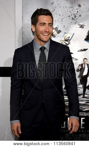 HOLLYWOOD, CALIFORNIA - March 28, 2011. Jake Gyllenhaal at the Los Angeles premiere of