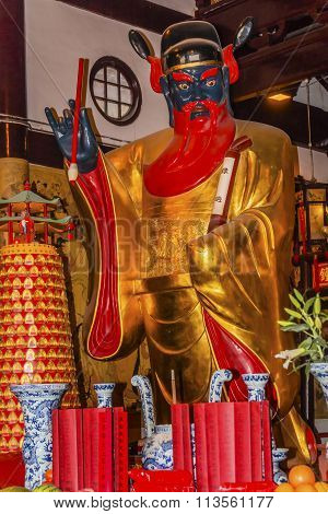 Guan Yu Taoist God Statue City God Temple Yueyuan Shanghai China