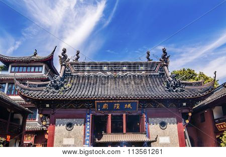 Taoist God Statues City God Temple Yueyuan Shanghai China