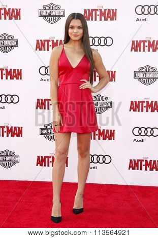 Paris Berelc at the Los Angeles premiere of Marvel's