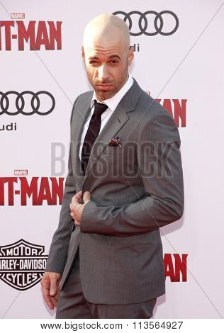 Chris Daughtry at the Los Angeles premiere of Marvel's