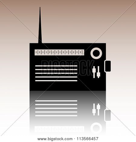 Radio silhouette icon