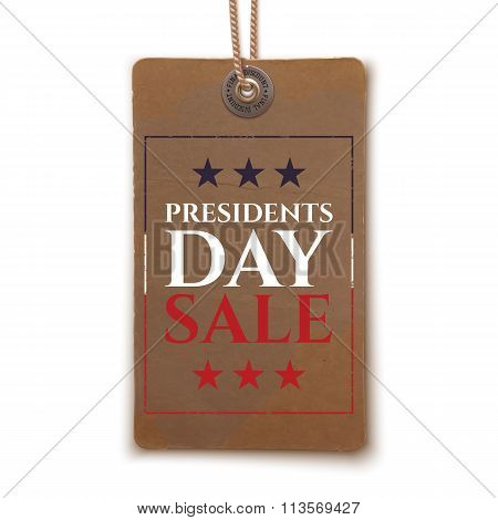 Presidents Day sale price tag.