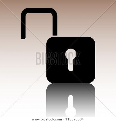 Unlock icon. Vector illustration