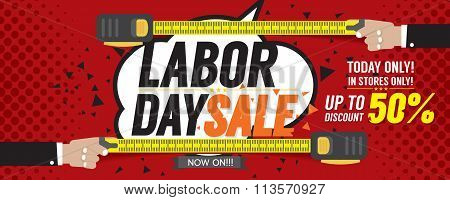 Labor Day Sale 50 Percent 6250X2500 Pixel Banner.