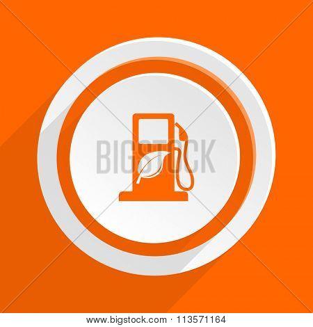 biofuel orange flat design modern icon for web and mobile app