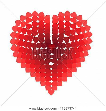 Heart Composed Of Small Hearts