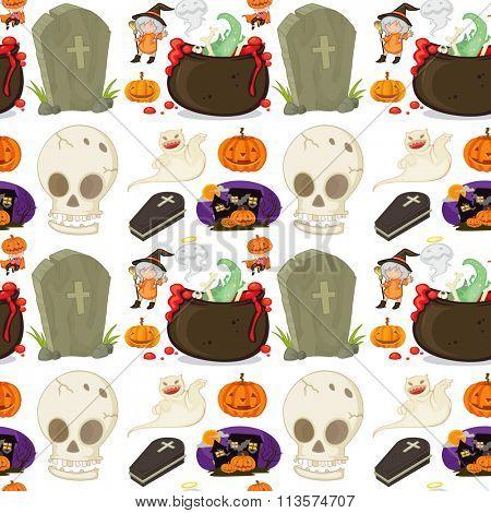 Seamless halloween festival theme illustration