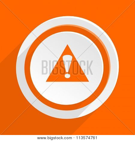 exclamation sign orange flat design modern icon for web and mobile app
