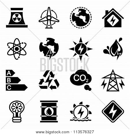 Vector Energetics icon set