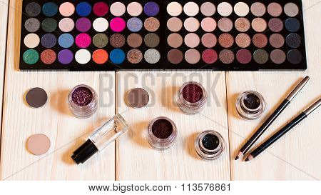 Collection Of Cosmetics For Make-up Artist