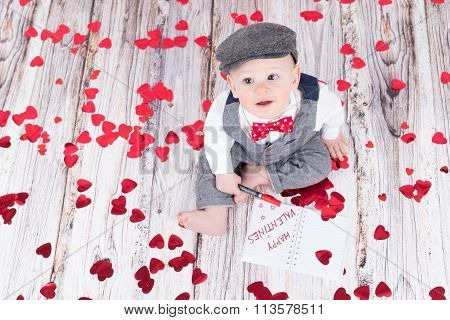 Baby Wishing Happy Valentines