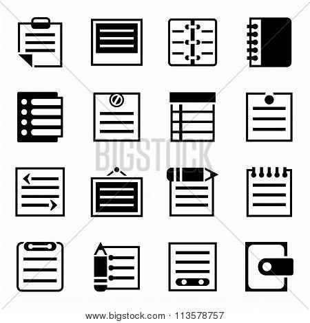 Vector Notes icon set