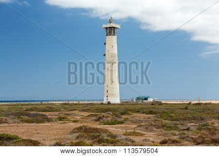 Lighthouse on Playa del Matorral Jandia Morro Jable Fuerteventura Spain