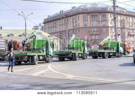 Tow Trucks On The Street