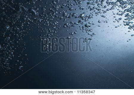 Air Bubbles In Water Background