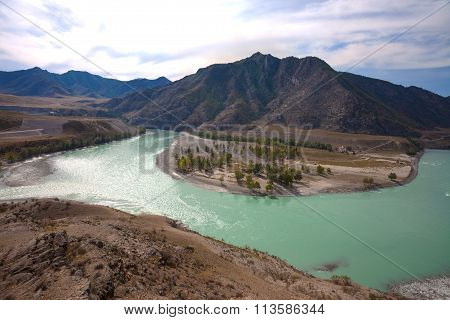 Confluence Of The Turquoise Rivers