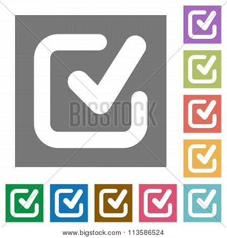 Checkmark Square Flat Icons