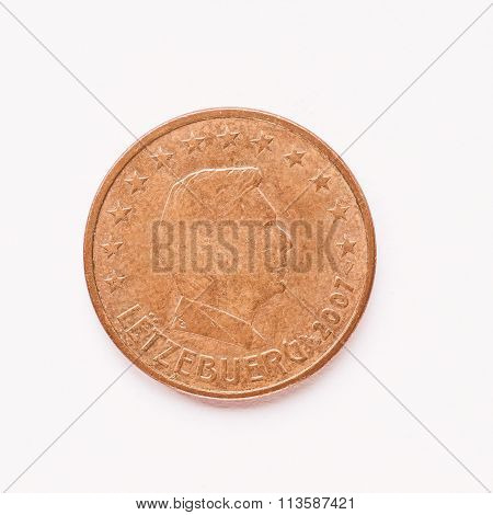 Luxembourg 5 Cent Coin Vintage