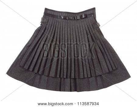 pleated skirt isolated on white