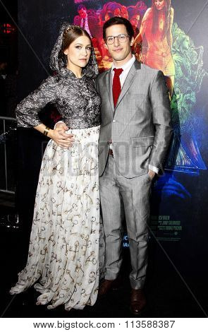 Joanna Newsom and Andy Samberg at the Los Angeles premiere of